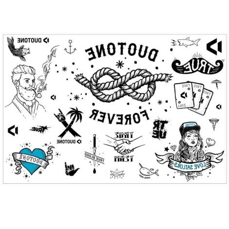 Duotone Tattoo Style Motive