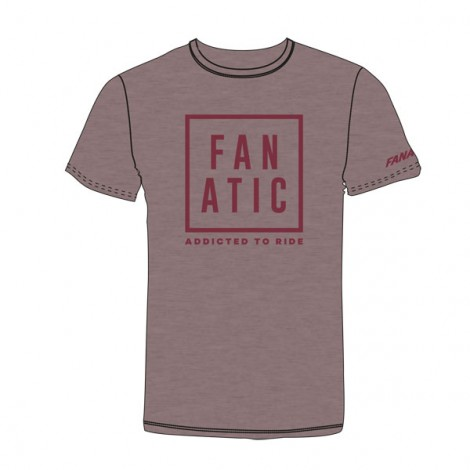 Fanatic T-Shirt Addicted Heather Cranberry