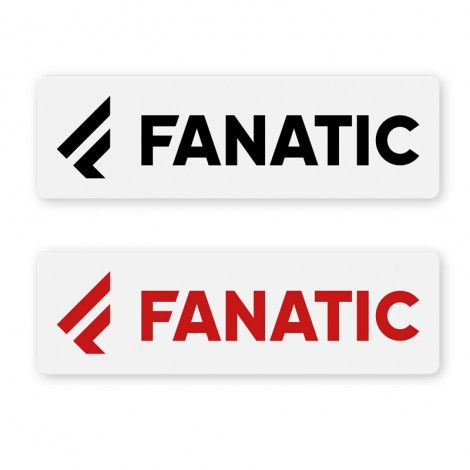 Fanatic Logo Sticker Rot + Schwarz