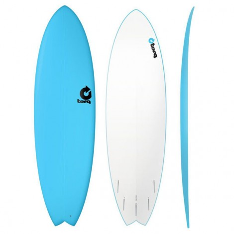 Torq Surfboard Fish 7.2 Blue Soft